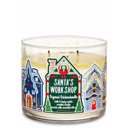 Bath & Body Works Santa's Workshop Sugared Snickerdoodle 3 Wick Scented Candle