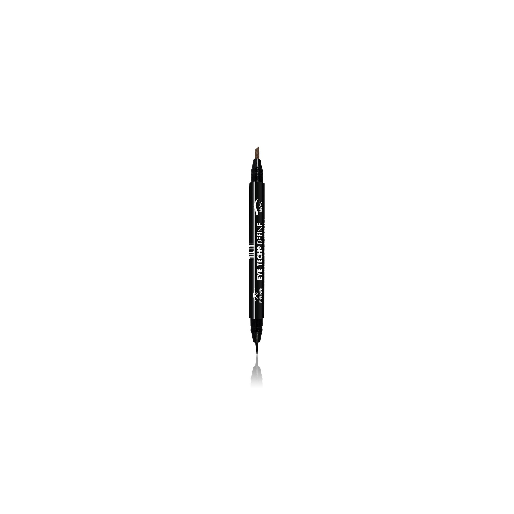 Milani Eye Tech Define 2IN1 Brow - Eyeliner Felt Tip Pen Dark Brown - Black