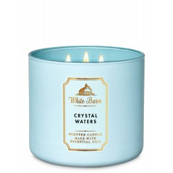 Bath & Body Works White Barn Crystal Waters 3 Wick Scented Candle