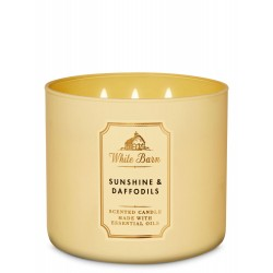 Bath & Body Works White Barn Sunshine & Daffodils 3 Wick Scented Candle