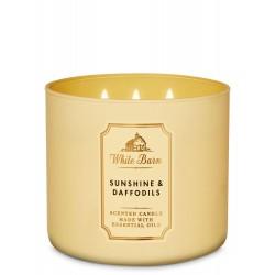 Bath & Body Works White Barn Sunshine & Daffodils 3 Wick Scented Candle