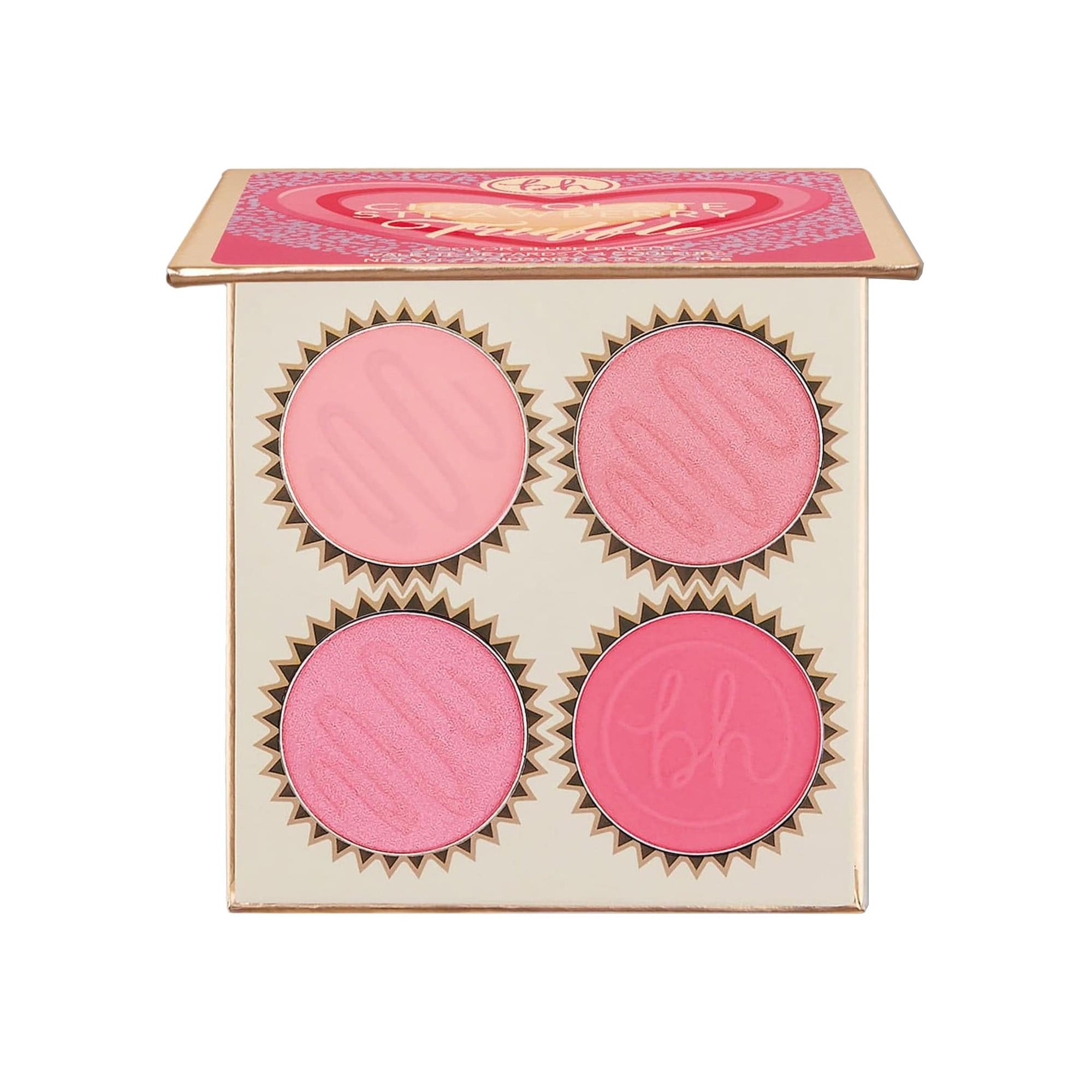 BH Cosmetics Truffle Blush 4 Color Blush Palette Chocolate Strawberry