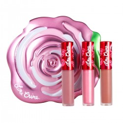 Lime Crime Pink Rose Velve-Tin Set