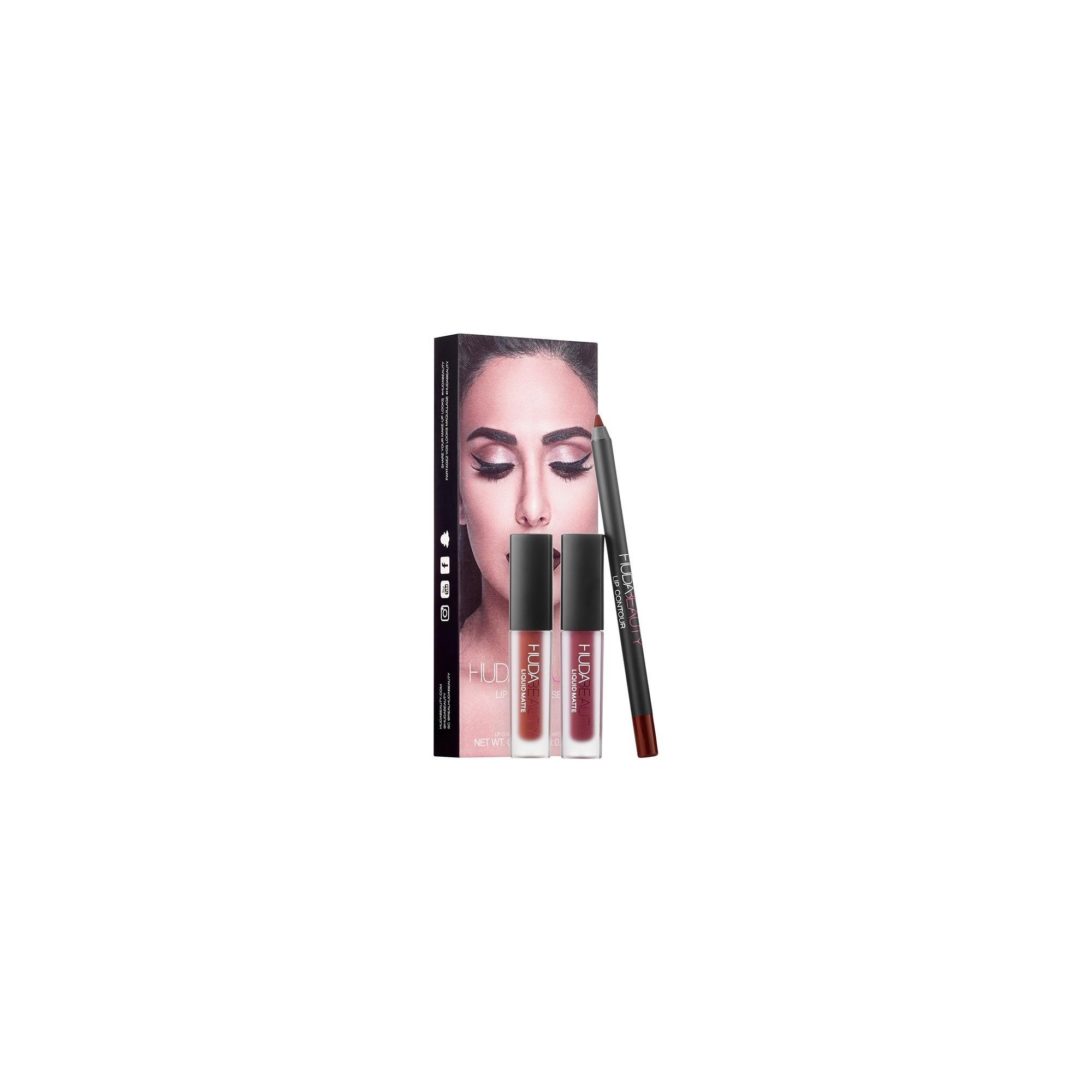Huda Beauty Lip Contour Set Vixen - Famous