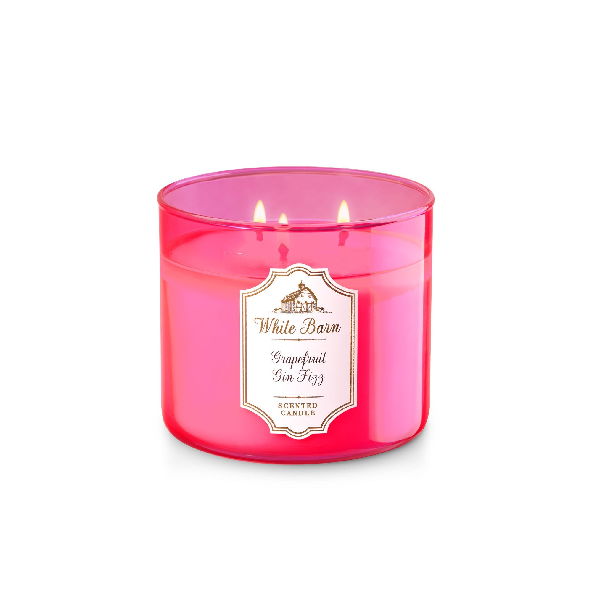 Bath & Body Works White Barn Grapefruit Gin Fizz 3 Wick Scented Candle