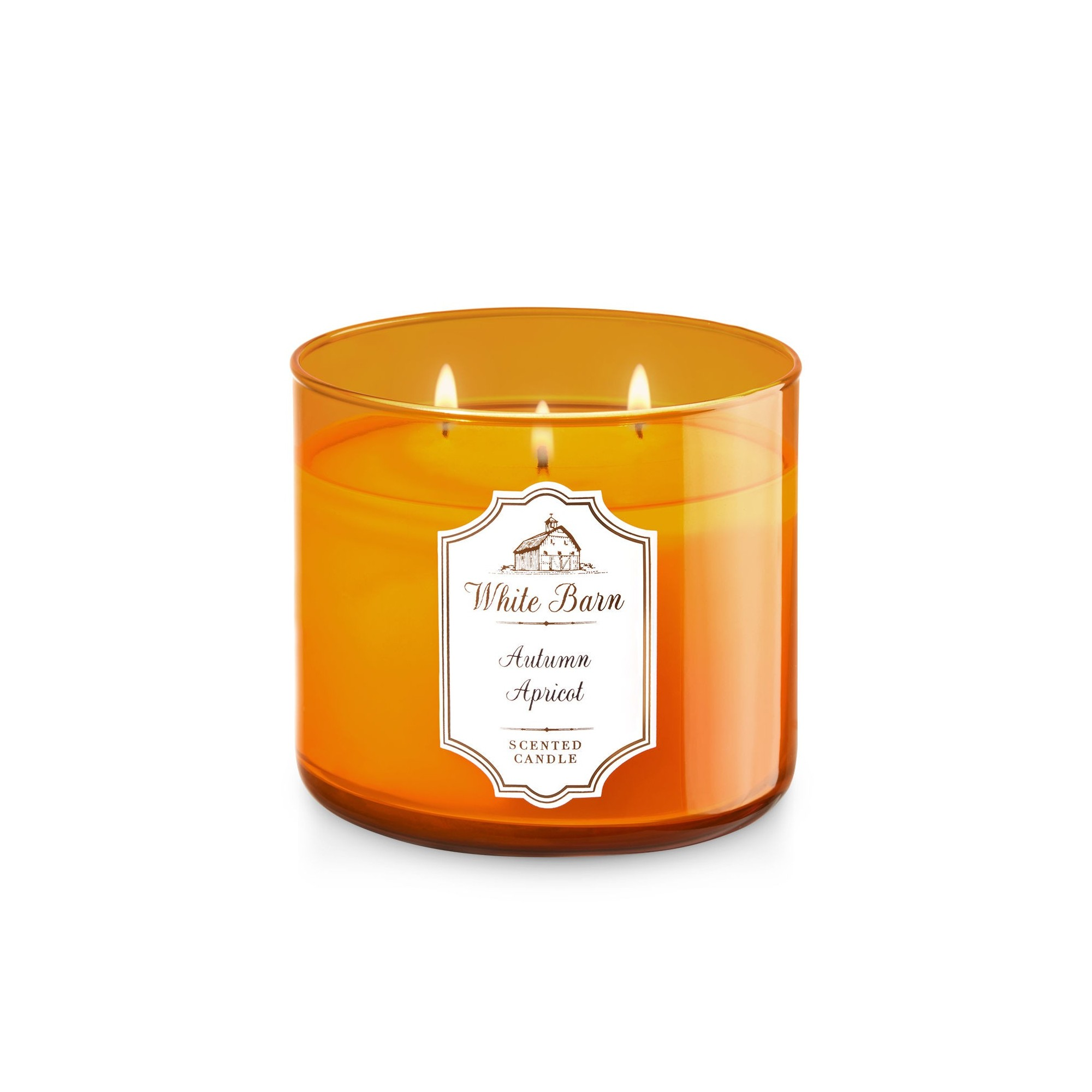 Bath & Body Works White Barn Autumn Apricot 3 Wick Scented Candle
