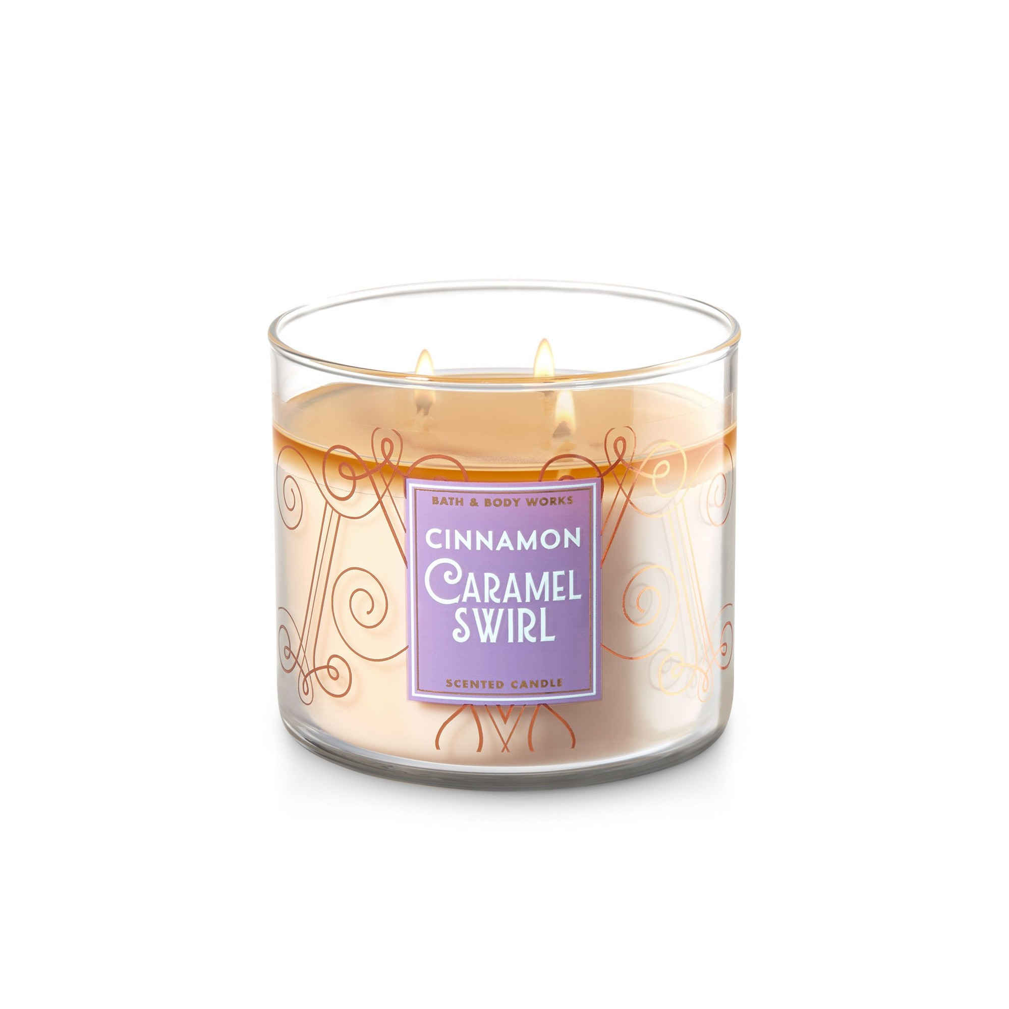 Bath & Body Works Cinnamon Caramel Swirl 3 Wick Scented Candle