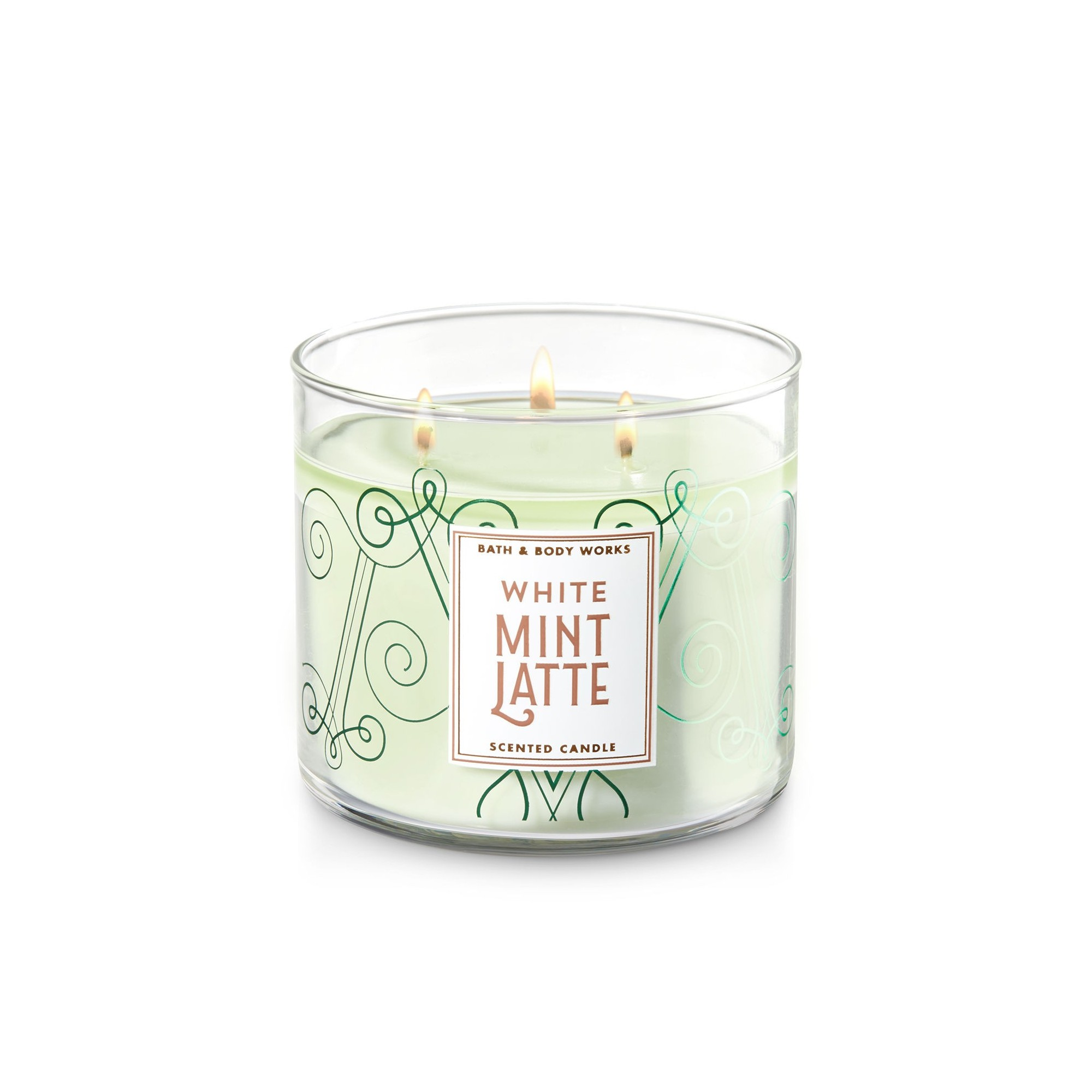 Bath & Body Works White Mint Latte 3 Wick Scented Candle