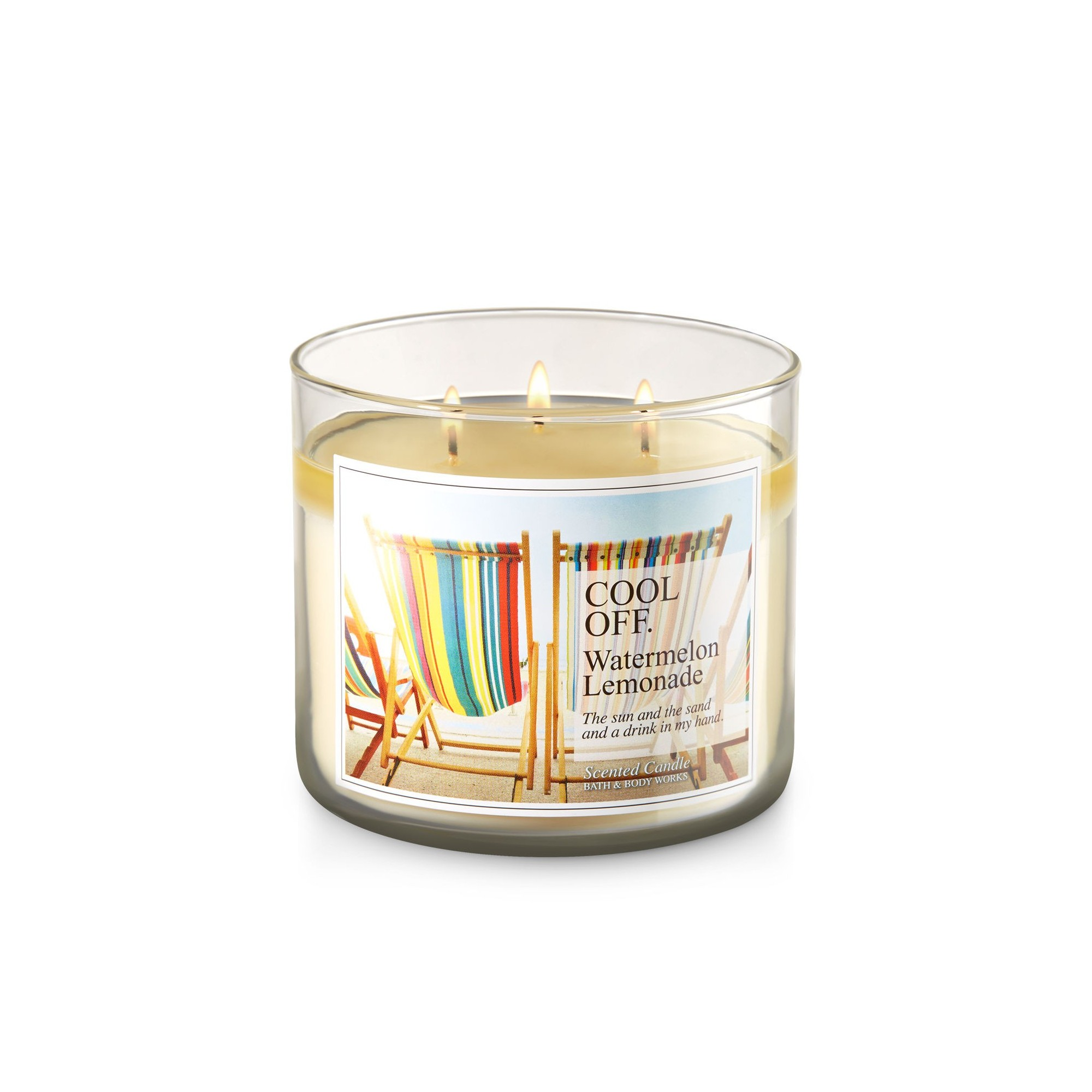 Bath & Body Works Watermelon Lemonade 3 Wick Scented Candle