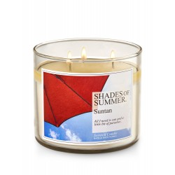 Bath & Body Works Suntan 3 Wick Scented Candle