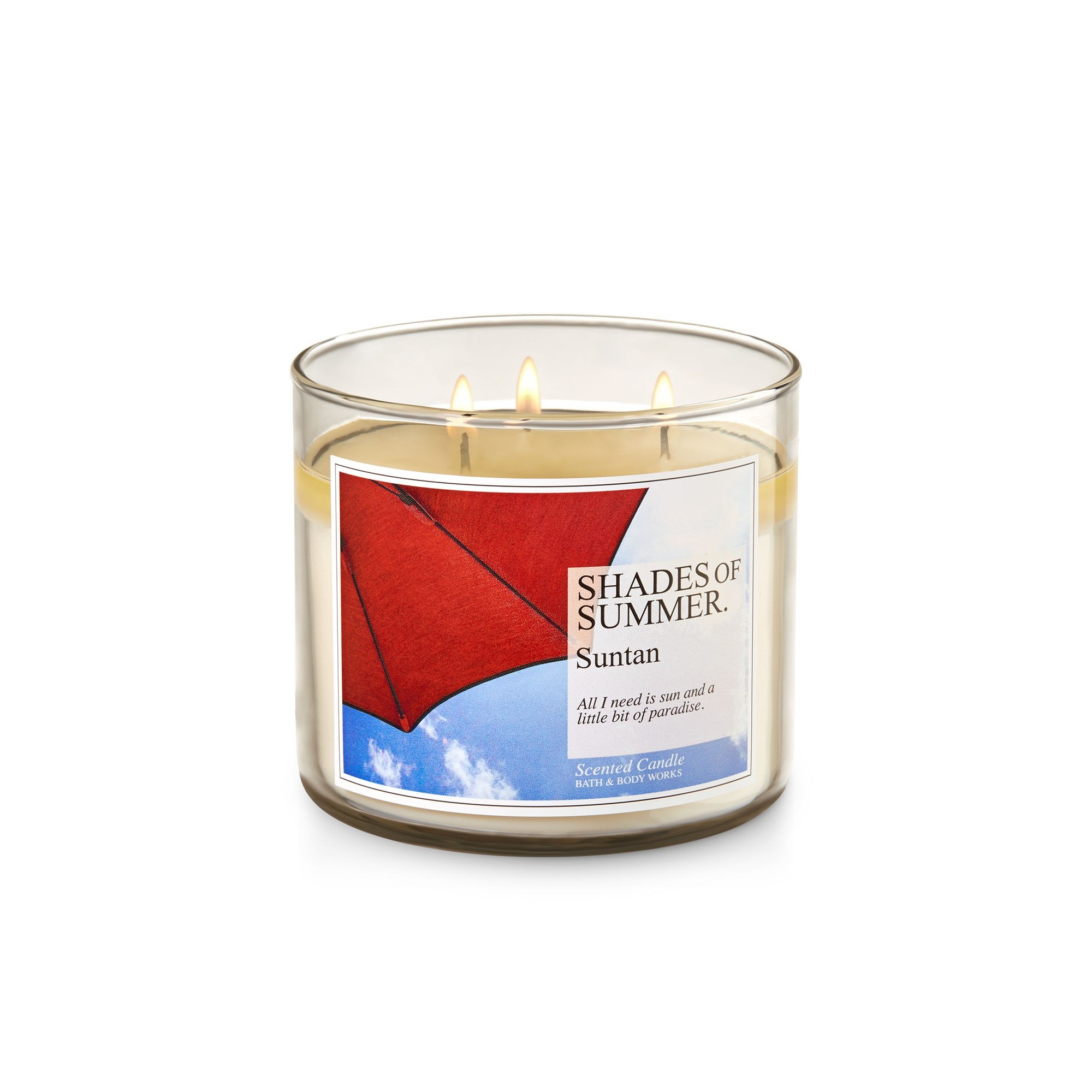 Bath & Body Works Suntan 3 Wick Scented Candle