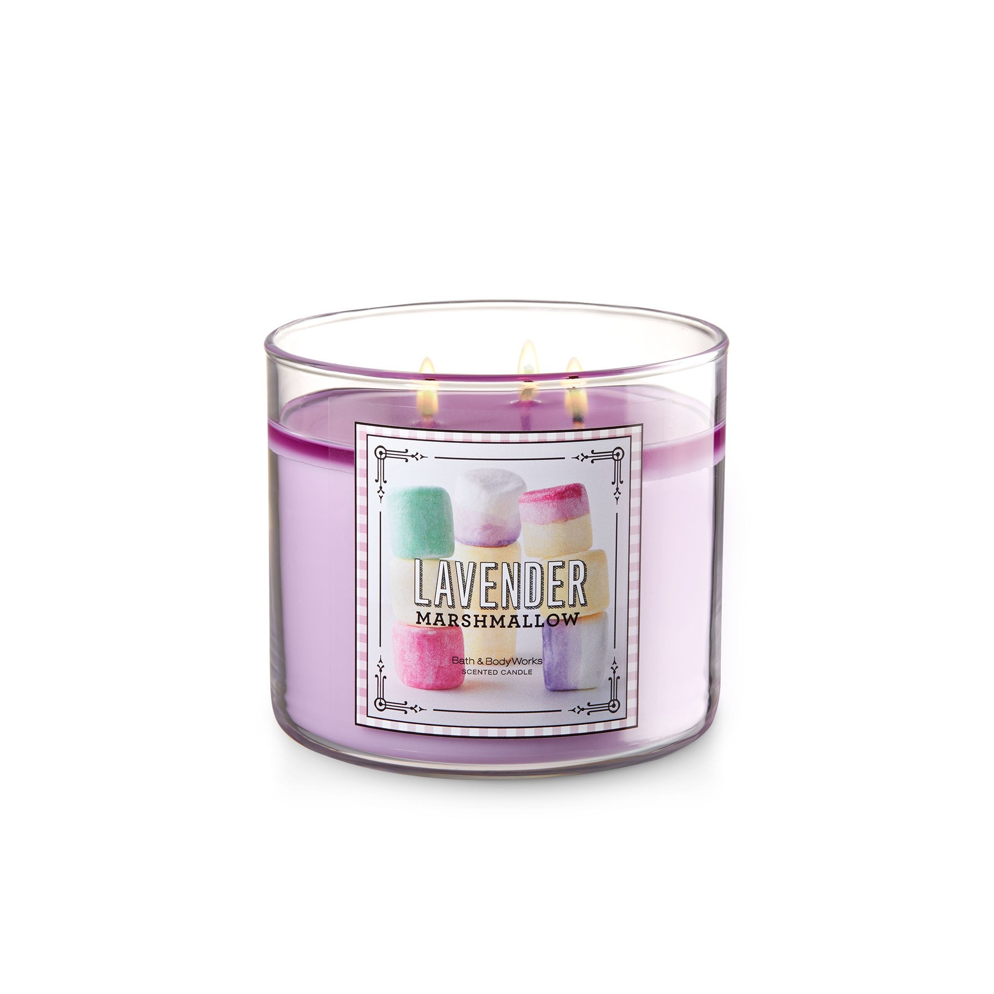 Bath & Body Works Lavender Marshmallow 3 Wick Scented Candle