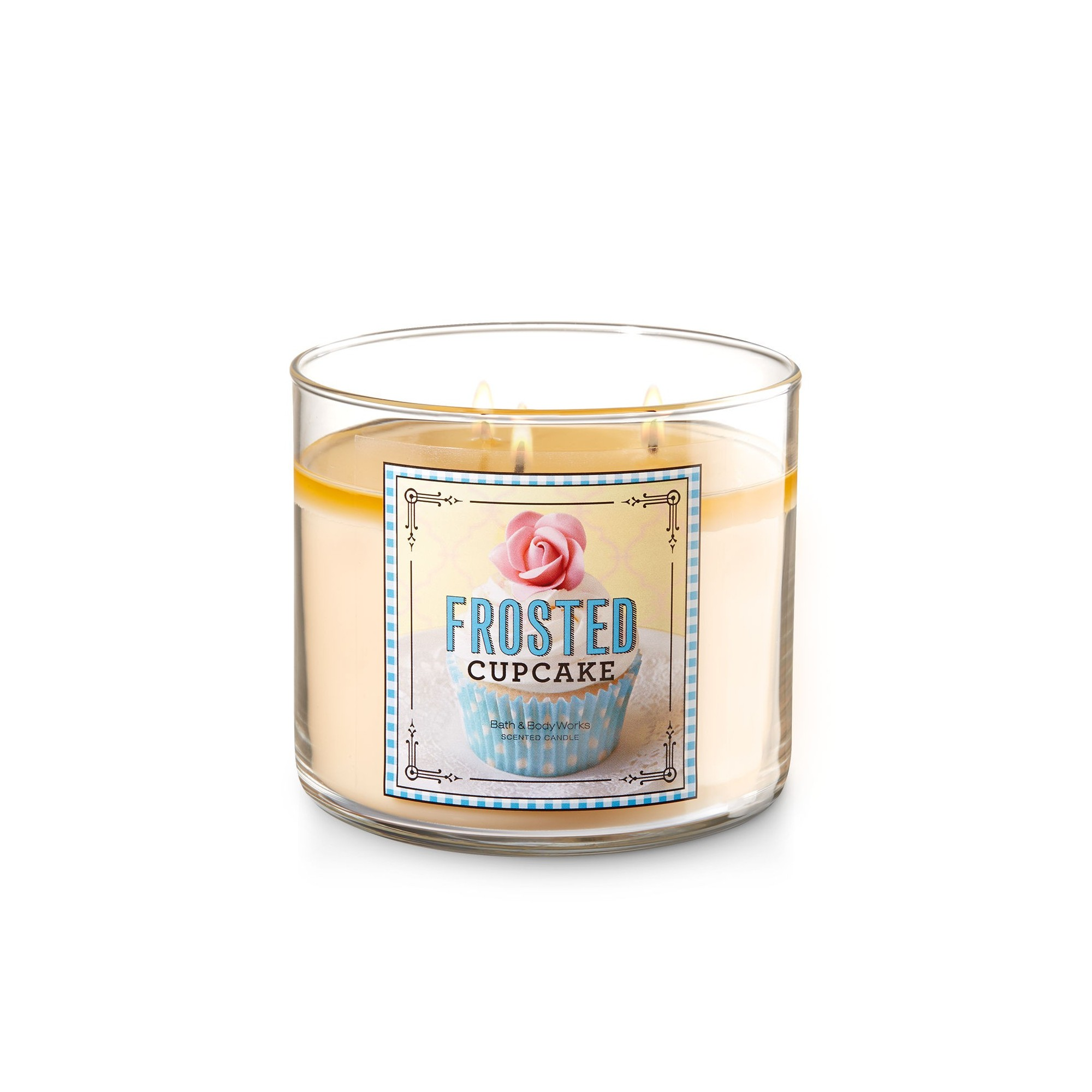 Bath & Body Works Frosted Cupcake 3 Wick Scented Candle