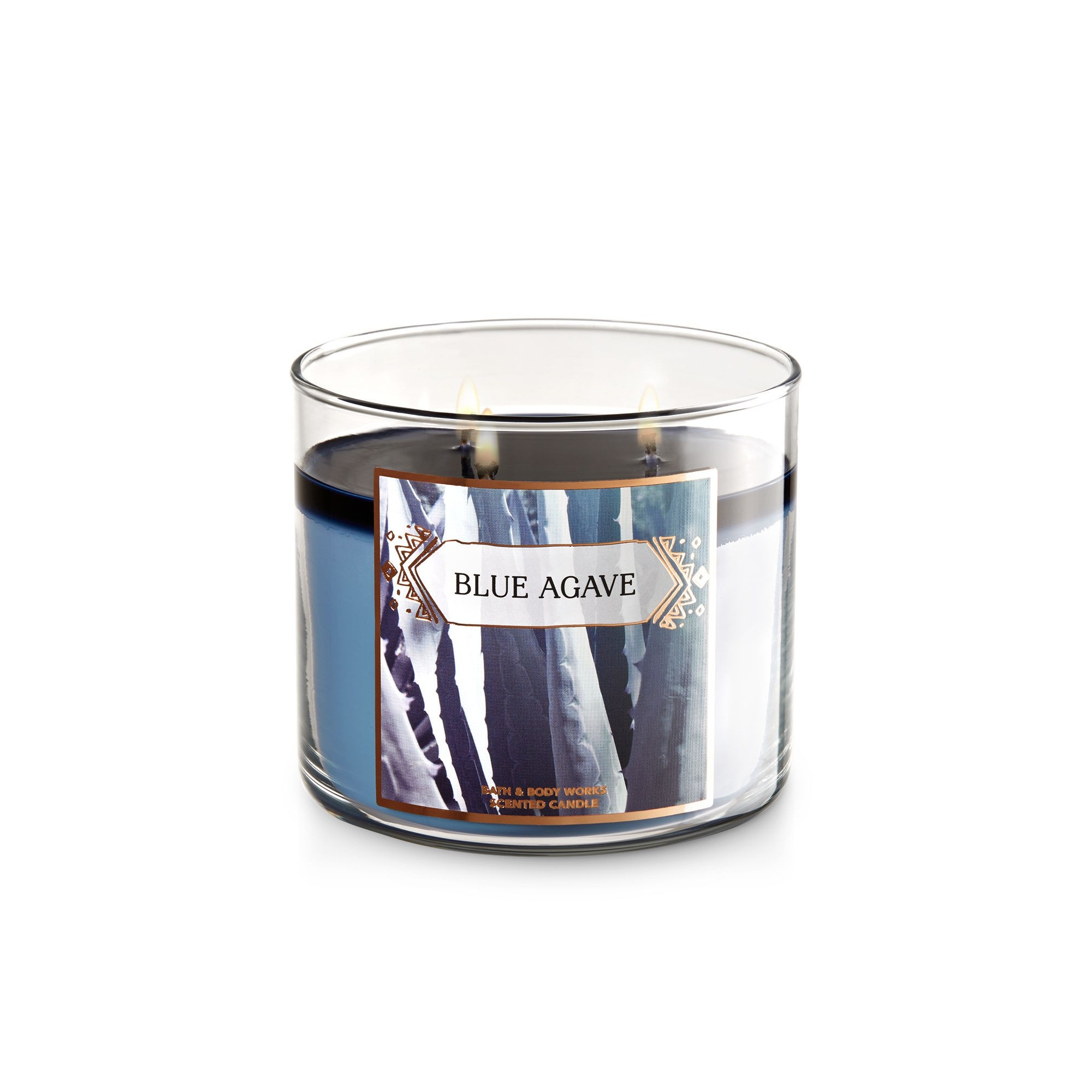 Bath & Body Works Blue Agave 3 Wick Scented Candle