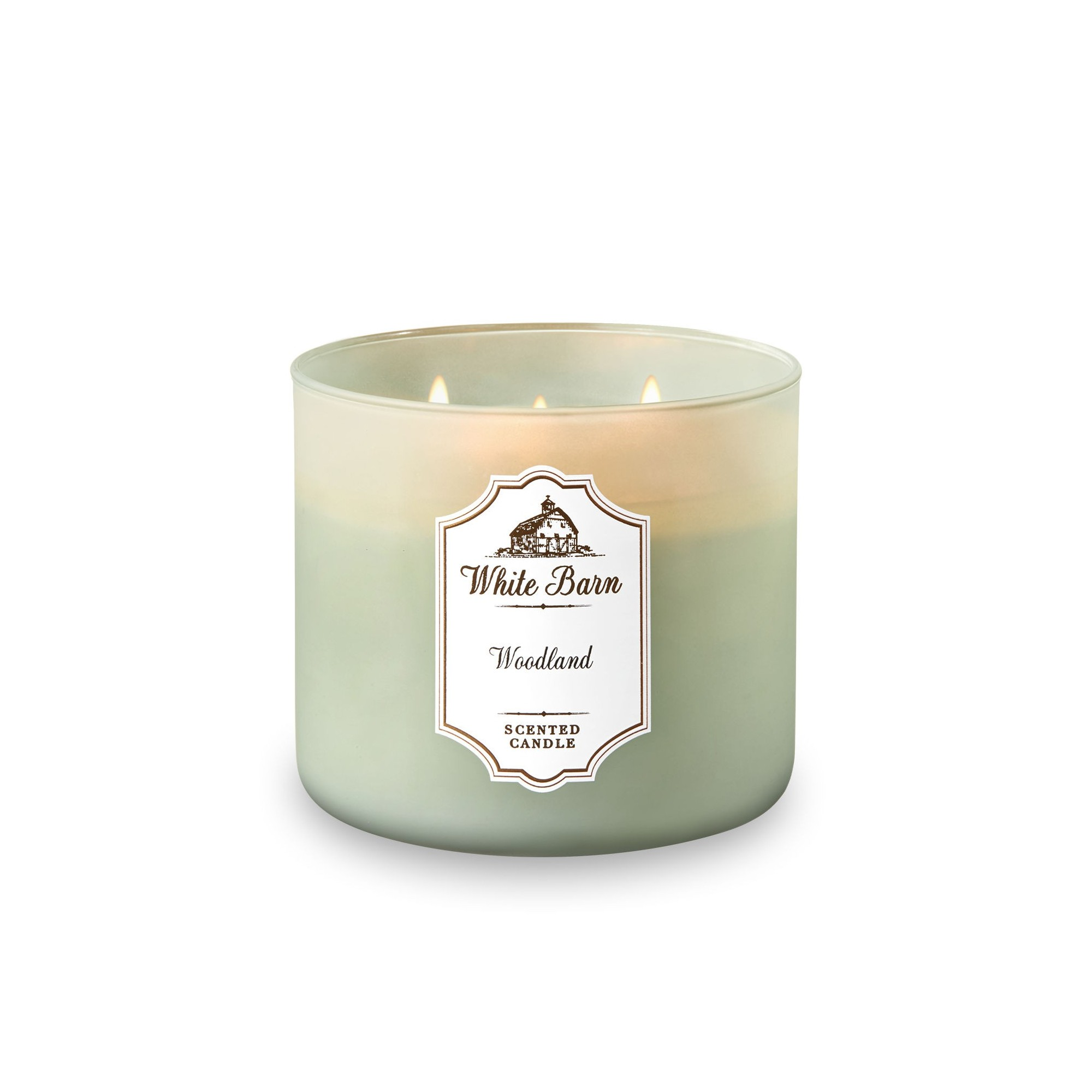 Bath & Body Works White Barn Woodland 3 Wick Scented Candle
