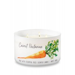 Bath & Body Works White Barn Carrot Nectarine 3 Wick Scented Candle