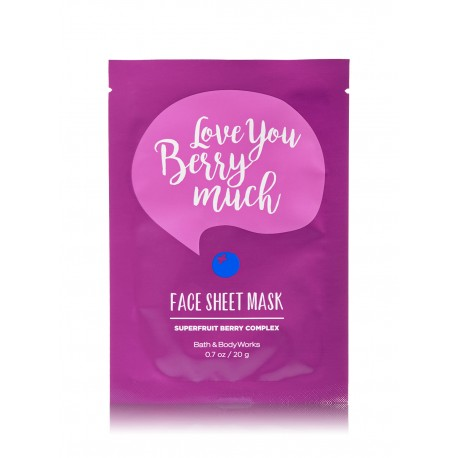 Bath & Body Works Love You Berry Much Face Sheet Mask