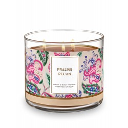 Bath & Body Works Praline Pecan 3 Wick Scented Candle