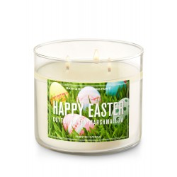 Bath & Body Works Cotton Candy Marshmallow 3 Wick Scented Candle