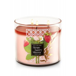 Bath & Body Works Strawberry Mimosa 3 Wick Scented Candle