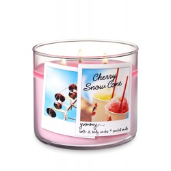 Bath & Body Works Cherry Snow Cone 3 Wick Scented Candle