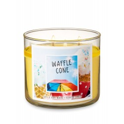 Bath & Body Works Waffle Cone 3 Wick Scented Candle