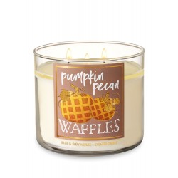 Bath & Body Works Pumpkin Pecan Waffles 3 Wick Scented Candle