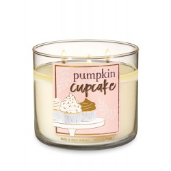 Bath & Body Works Pumpkin Cupcake 3 Wick Scented Candle