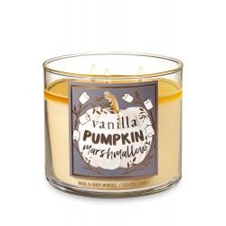 Bath & Body Works Vanilla Pumpkin Marshmallow 3 Wick Scented Candle
