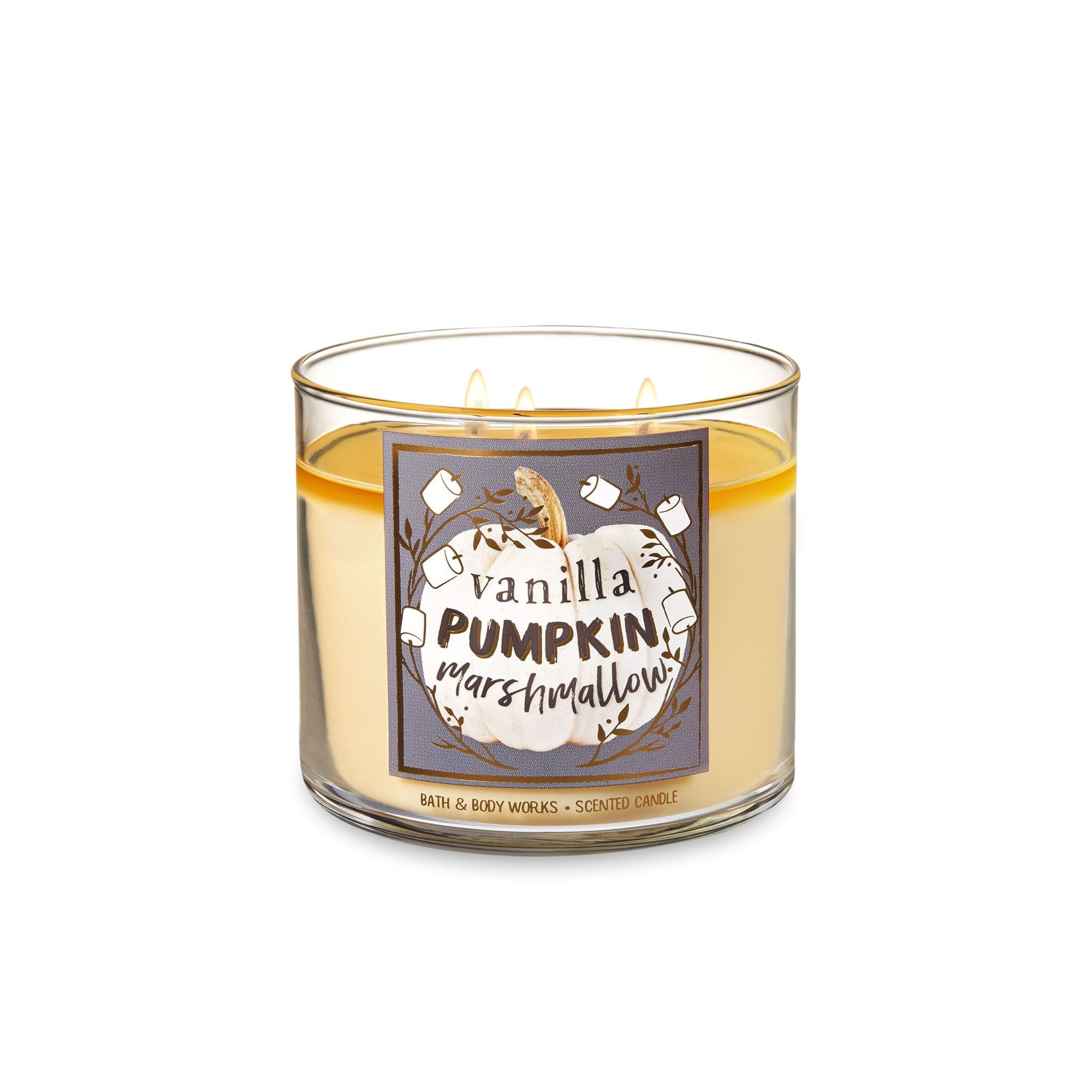 Bath & Body Works Vanilla Pumpkin Marshmallow 3 Wick Scented Candle