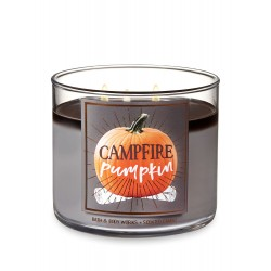 Bath & Body Works Campfire Pumpkin 3 Wick Scented Candle
