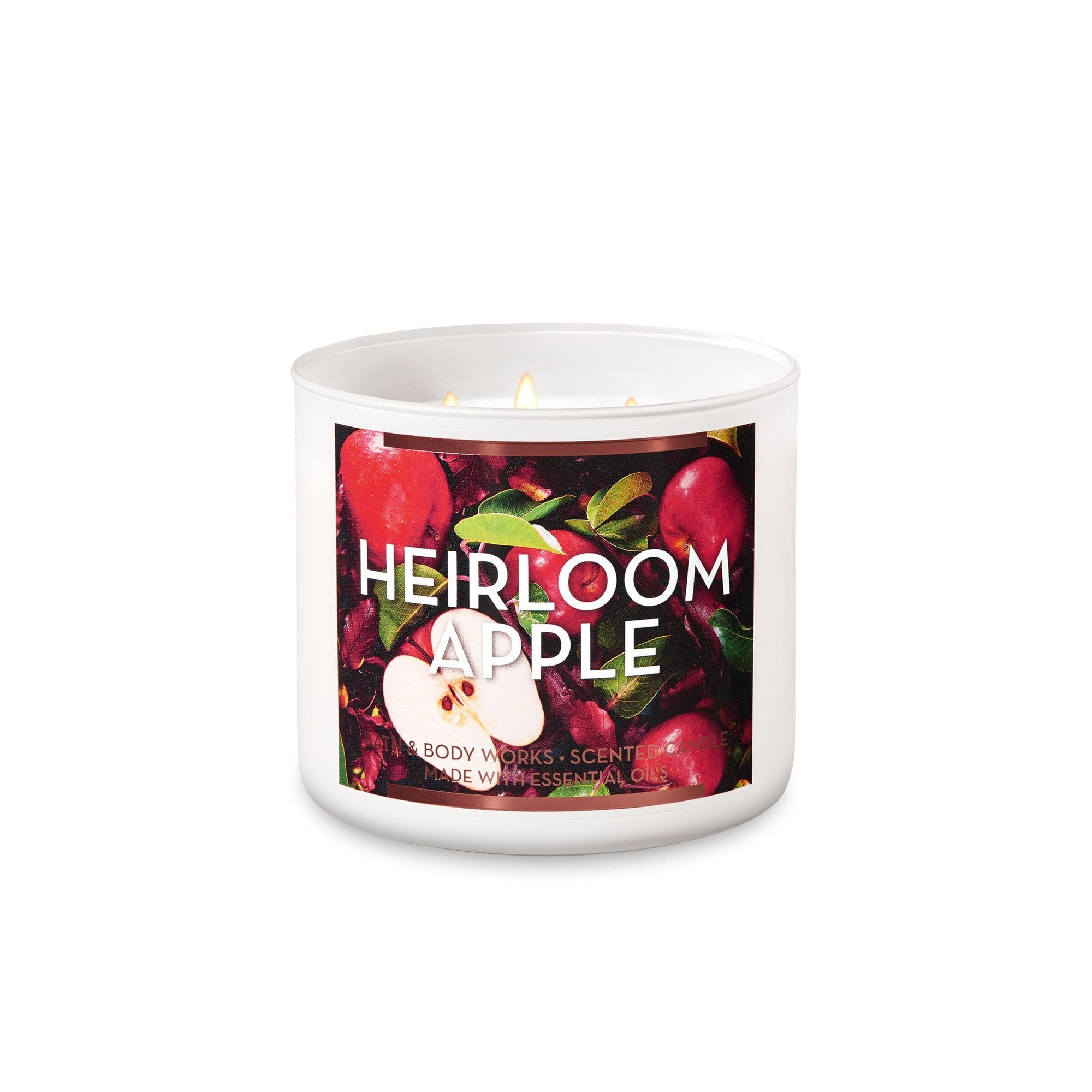 Bath & Body Works White Barn Heirloom Apple 3 Wick Scented Candle