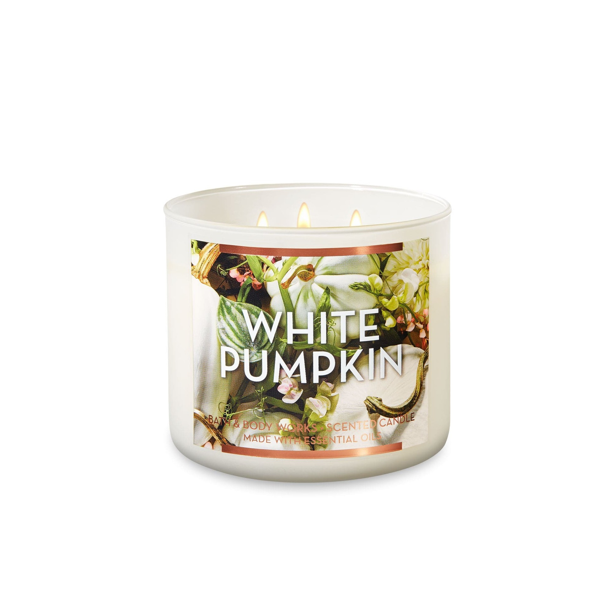 Bath & Body Works White Pumpkin 3 Wick Scented Candle