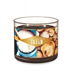 Bath & Body Works Hot Cocoa & Cream 3 Wick Scented Candle