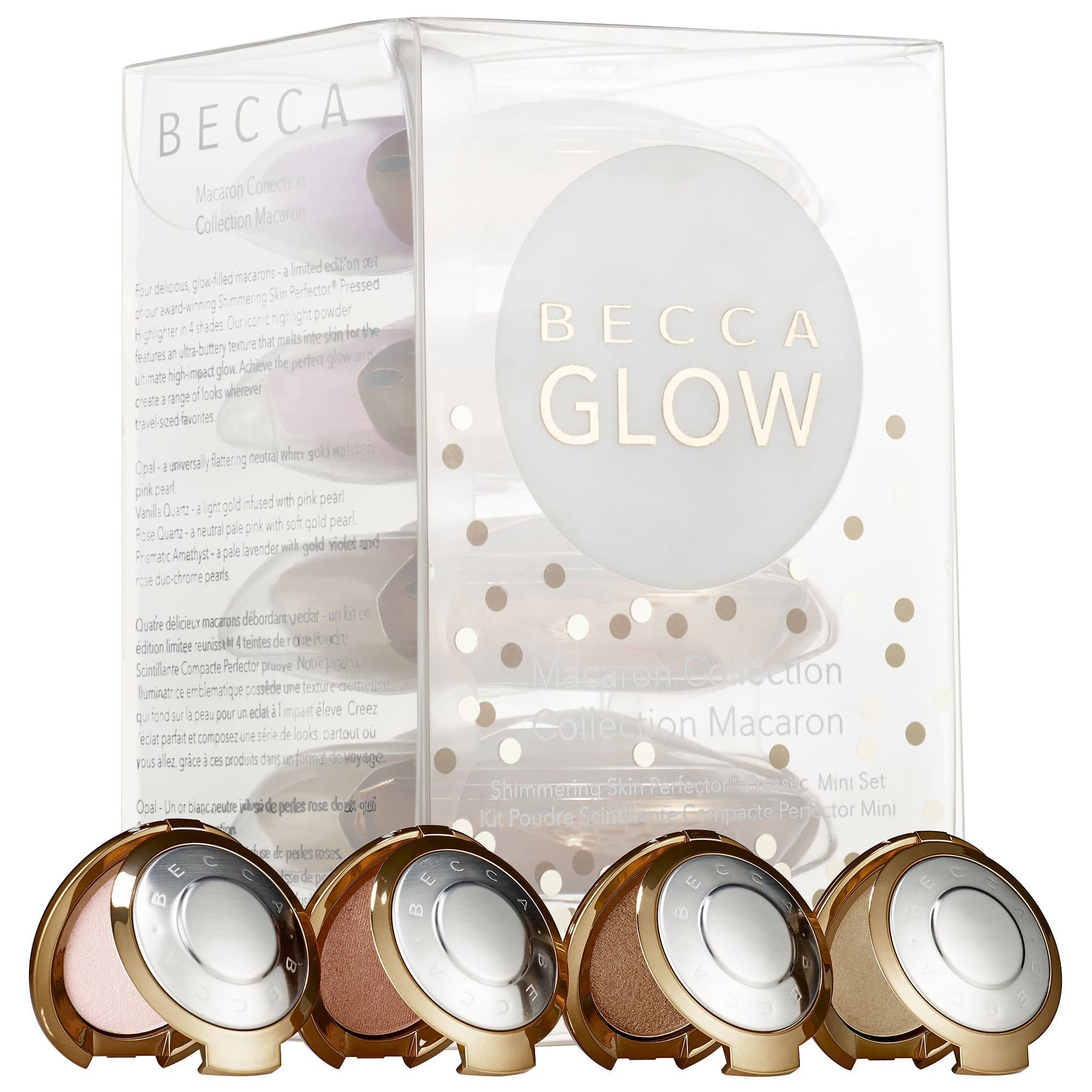 BECCA Shimmering Skin Perfector Pressed Highlighter Mini Macaron Set