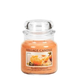 Village Candle Mandarin Agarwood Medium Jar Glass