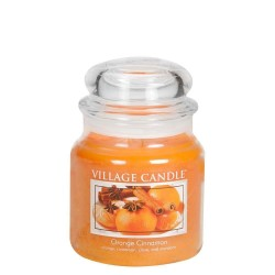 Village Candle Orange Cinnamon Medium Jar Glass