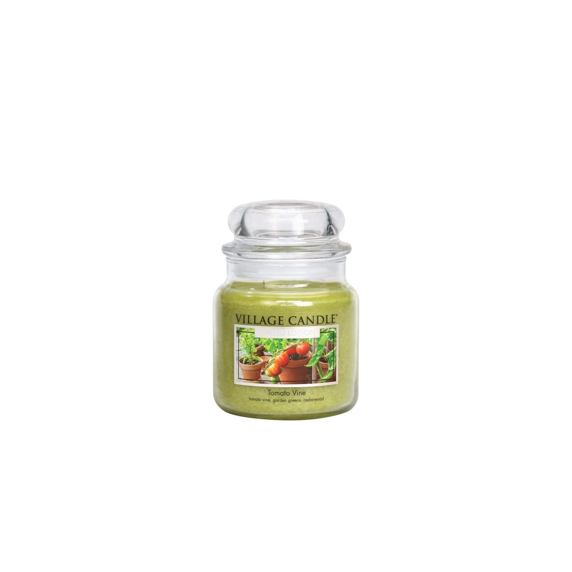 Village Candle Tomato Medium Jar Glass