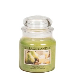 Village Candle Ginger Pear Fizz Medium Jar Glass