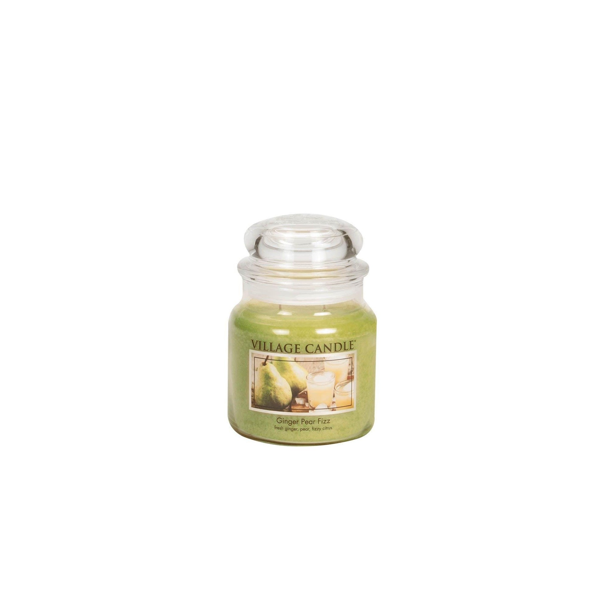 Village Candle Ginger Pear Fizz Medium Jar Glass