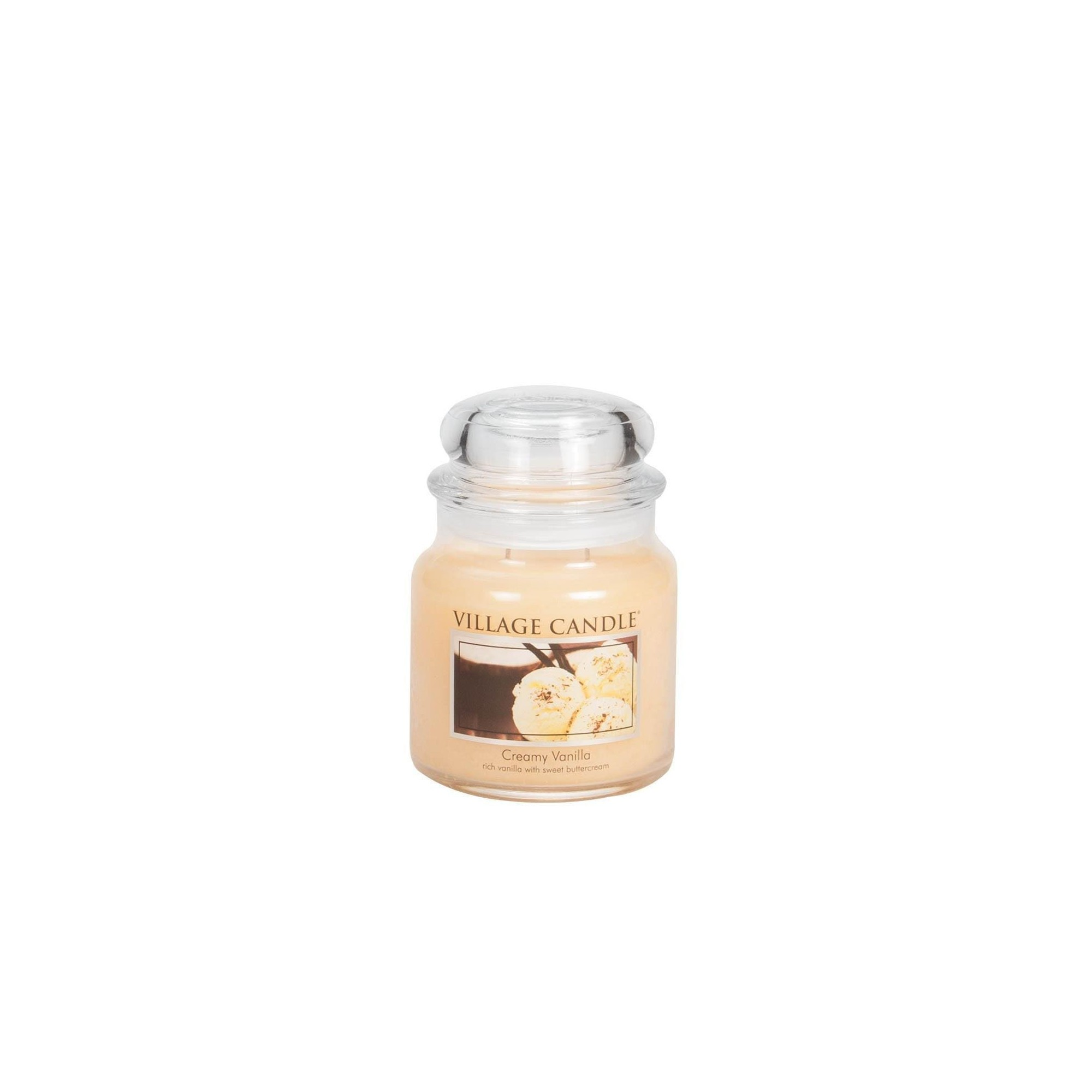 Village Candle Creamy Vanilla Medium Jar Glass