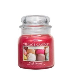 Village Candle Fresh Macaroon Medium Jar Glass