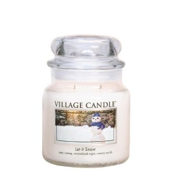 Village Candle Let It Snow Medium Jar Glass