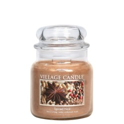 Village Candle Spiced Noir Medium Jar Glass