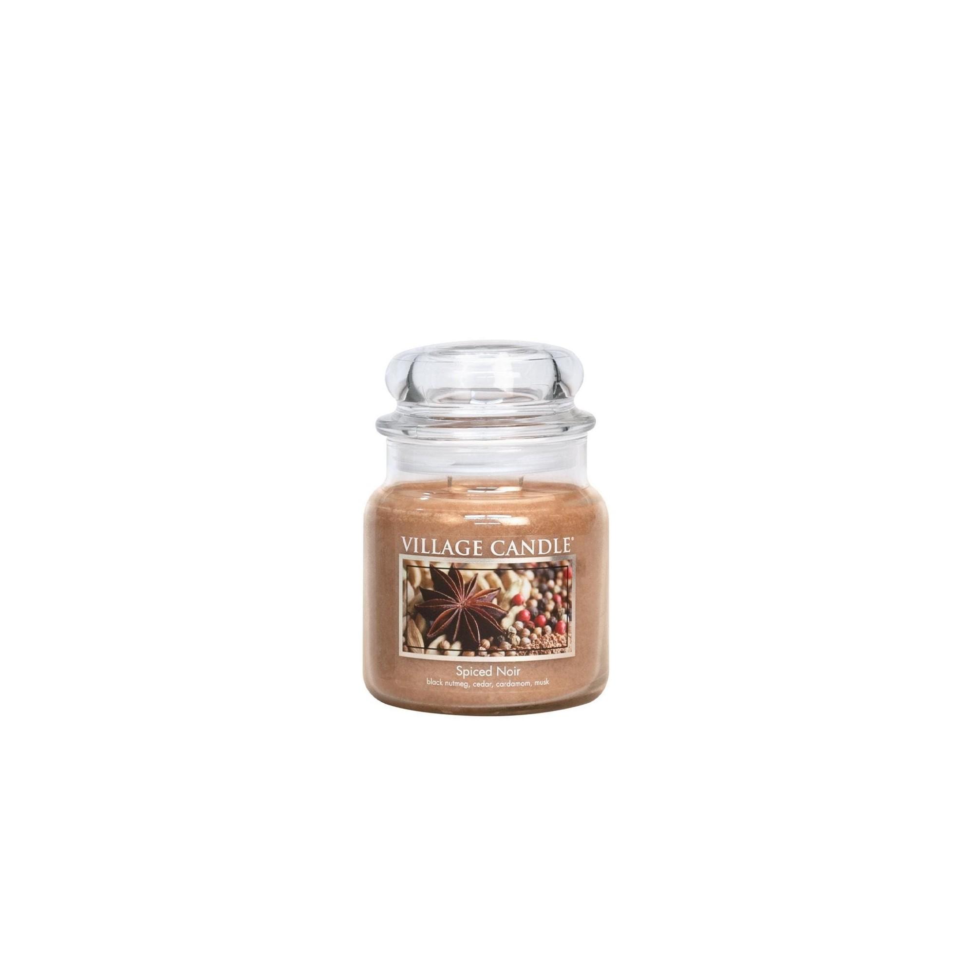 Village Candle Spiced Noir Medium Jar Glass