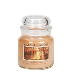 Village Candle Amber Woods Medium Jar Glass