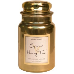 Village Candle Spiced Honey Tea Metallics Large Jar Glass