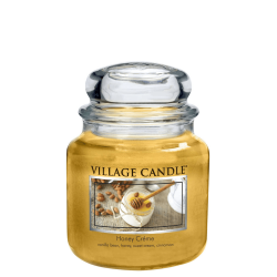 Village Candle Honey Creme Medium Jar Glass