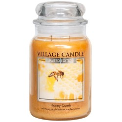 Village Candle Honey Comb Large Jar Glass