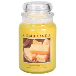 Village Candle Lemon Poundcake Large Jar Glass